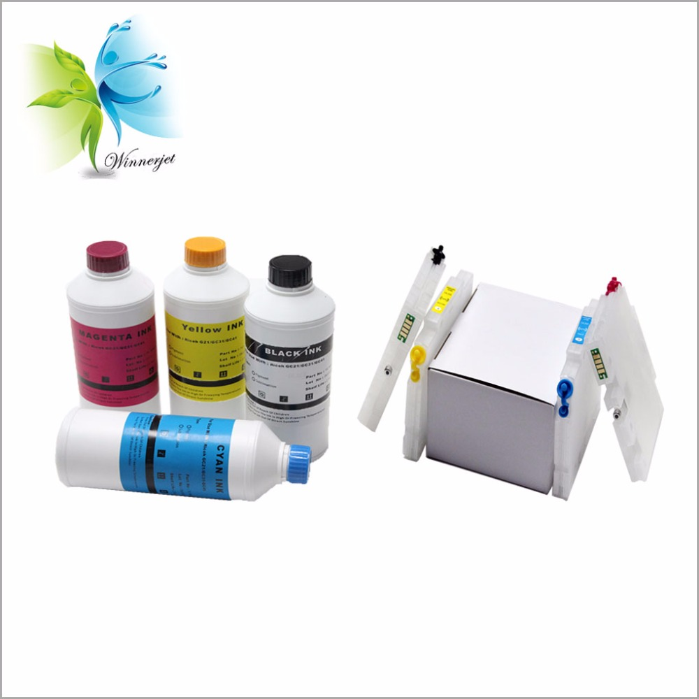 refillable ink cartridge + gel sublimation ink for Ricoh aficio SG 3110DN printer