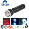 15 LED Flashlight UV Ultra Violet Light & Red Laser Pointer Torch Light