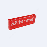 red acrylic sign nameplate block acrylic engraved solid logo block
