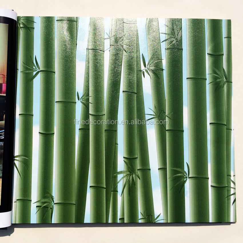 3d pvc bamboo wallpaper design restaurant background