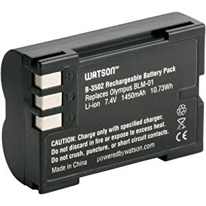 Watson BLM-1 Lithium-Ion Battery Pack (7.4V, 1450mAh) -Replacement for Olympus BLM-1 Olympus:C-5060 , C-7070 , C-8080 , E-30 , E-520 , E-3 , E-500 , E-300 , E-330 , E-510