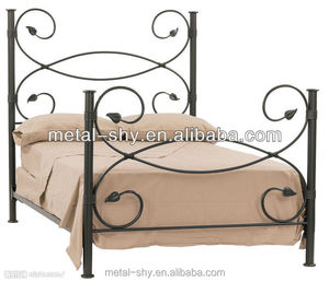Cast Iron Metal rectangle bed metal bed