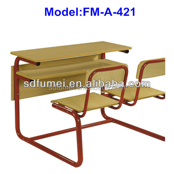 Fm-a-421 Secondary School Connected Table Chair For Student Study ...