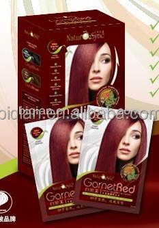 Color de pelo color rojo vino
