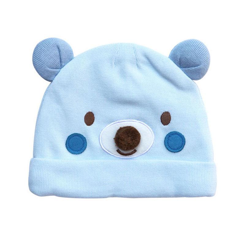 Personalizado encantador padrão animal chapéu do inverno puro algodão  grosso bebê recém-nascido da criança cf29f80783c