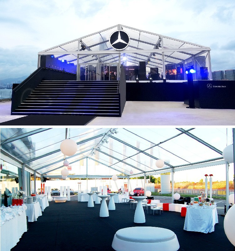 Transparent Catering Tent 20x25m For 500 People In Singapore