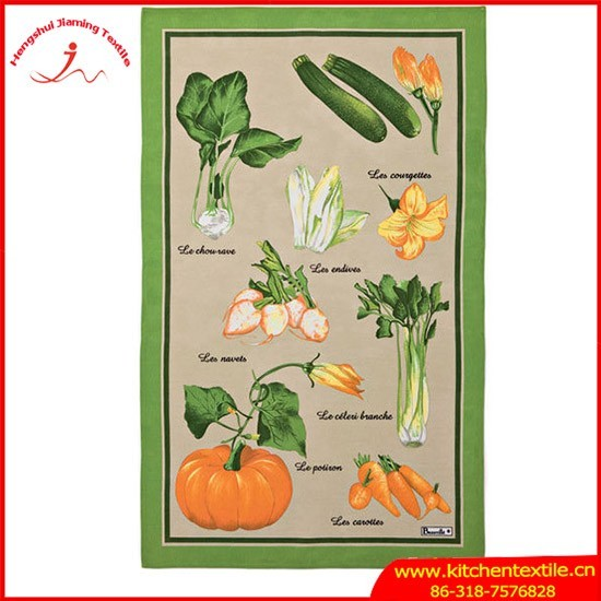 Alibaba China Supplier kitchen printed 100 % cotton tea towel