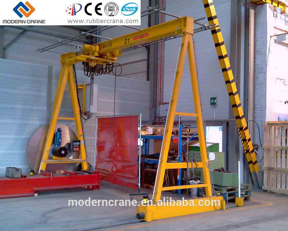 Mobile Crane Rental Malaysia : T mini mobile gantry crane work portable small