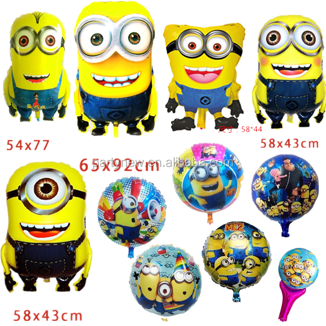 Wholesale High Quality Minions Balloon for Helium Mylar Balloons Despicable Me foil Balloons For Kids Birthday party decoration