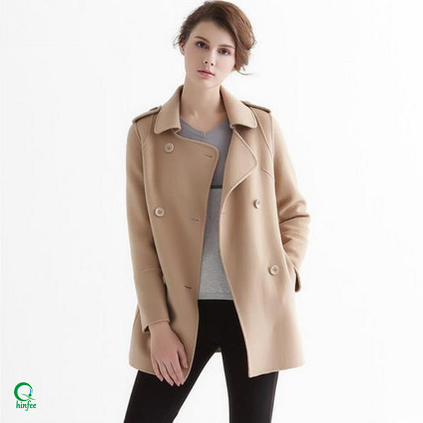 SWC100 Wholesale Clothes Double-Breasted Latest Coat Designs for Women