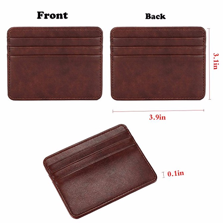 Leather Purse Wallet Double Sided with Flap Large Size RFID Protected