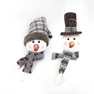 Hanging Decoration Personalized Blank Holiday Festive Home Decor New Ornaments 7 Inch Christmas Plush Snowman Head