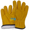 Wing Thumb Yellow Cow Skin Leather Glove Warm lining China Supplier