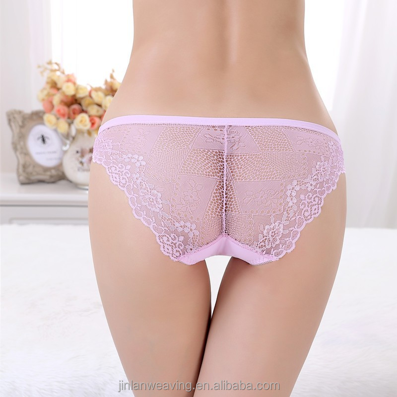 Women Panty Ready In-stock Lace Back Side See Through Underwear ...