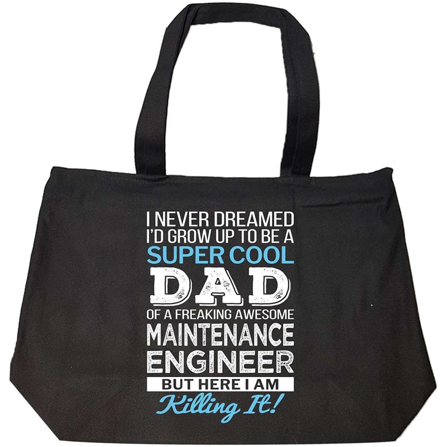 Super Cool Dad Of Awesome Maintenance Engineer Dad Gift - Tote Bag With Zip