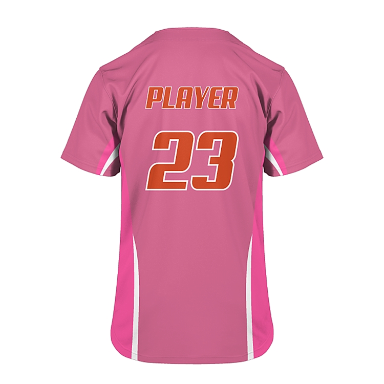 Slionprince Short Sleeve Button closure T Shirts pink baseball jersey