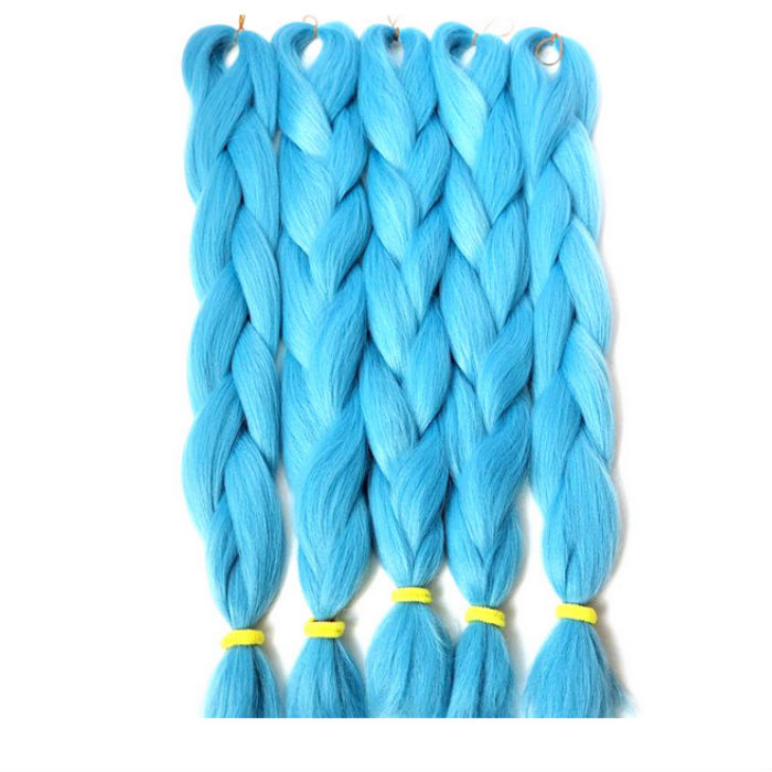 blue color yaki xpression synthetic hair braids