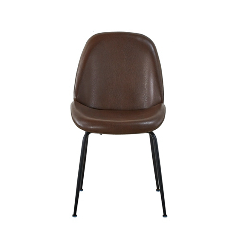 Free Sample Home Furniture Bazhou restaurant ome modern design PU/leather dining chair  with stainless steel legs