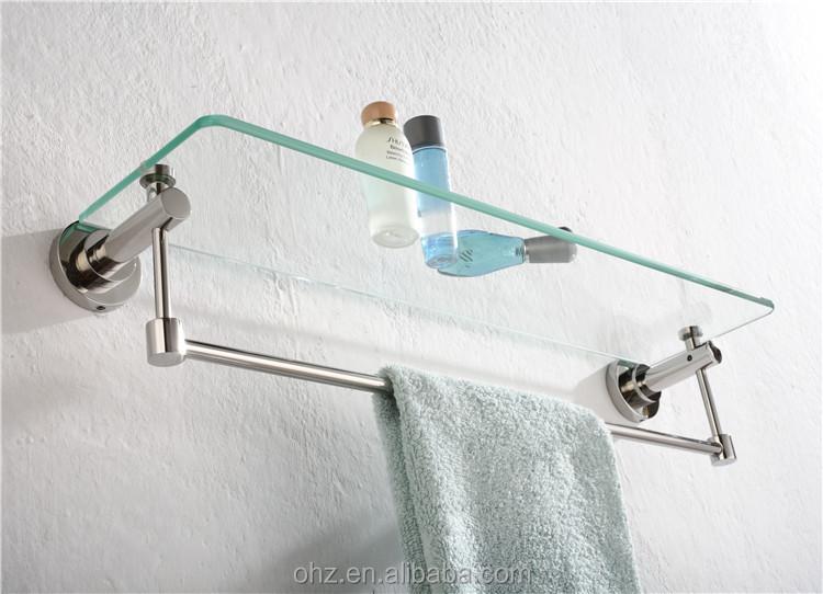 bathroom accessories wall mount glass shelf brackets