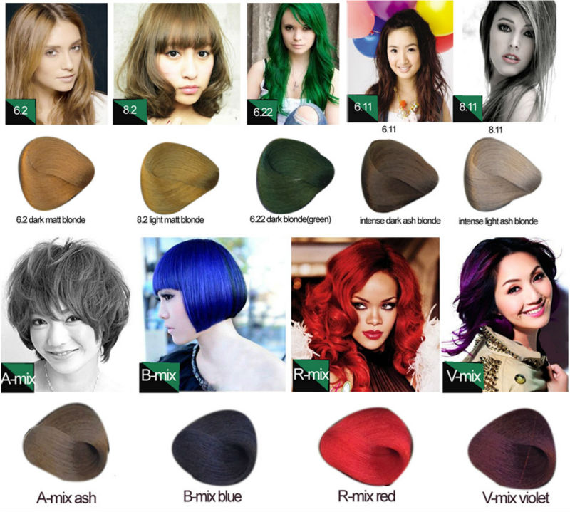 Private Label Chocolate Brown Blonde Black Halal Hair Color And