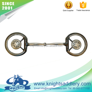 Black Steel Eggbutt Snaffle Riding Bit with Engraved Flat Rings