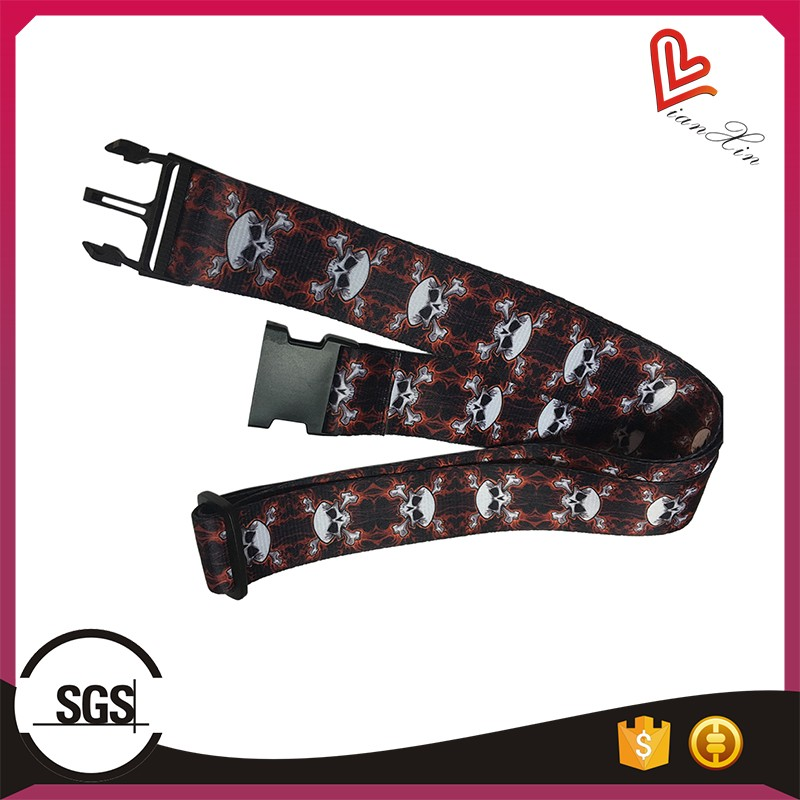 Top quality custom made sublimation multicolour pattern luggage straps