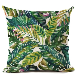 Plant Cushion Cover Tropic Tree Green Decorative