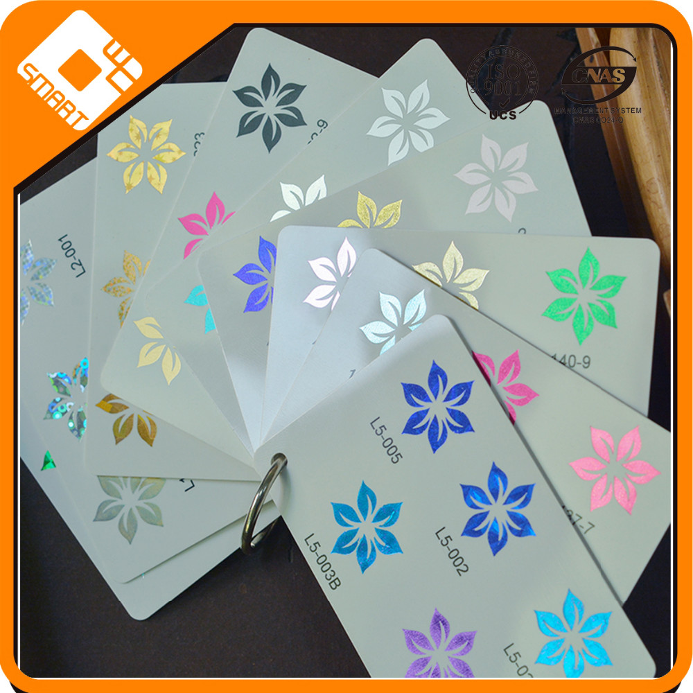 plastic PVC card rose gold hot stamping foil with high quality