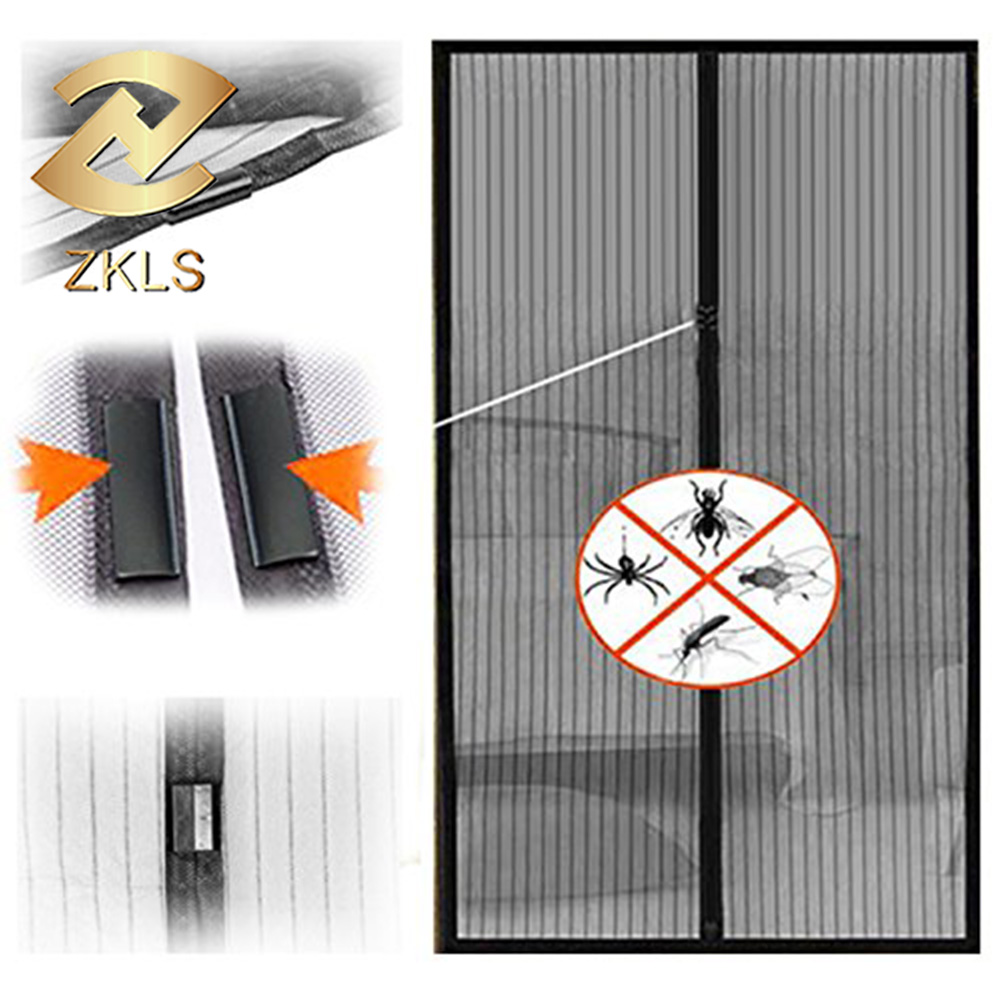 Polyester Mesh Mosquito Net Magnetic Screen Door Keep Bugs Out Lets Fresh Air