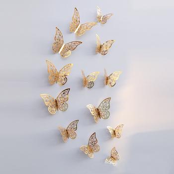 Diy Home Wall Decoration Sticker Metallic Feel 3d Butterfly Wall ...