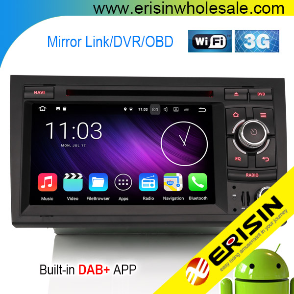 Es4728a Android 7 1 Car Dvd Dab+player Gps Sat Nav For Audi A4 S4 Rs4 Rns-e  8e Seat Exeo - Buy Quad-core,Touch Screen Car Radio Gps,2gb Ram Product on