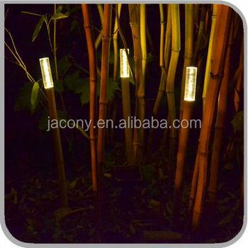Solar Led Lampe Bambus Lampe Garten Jl 7818 Buy Solar Lampe