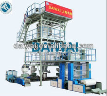 Bottom price sell 2012 Newest DW-BFM-3L-1400mm A+B+C Three Layers Co-Extrusion Blowing Film Machine in stock