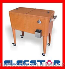 Patio Cooler Cart On Wheels, Outdoor Cooler Cart, Rolling Cooler Cart