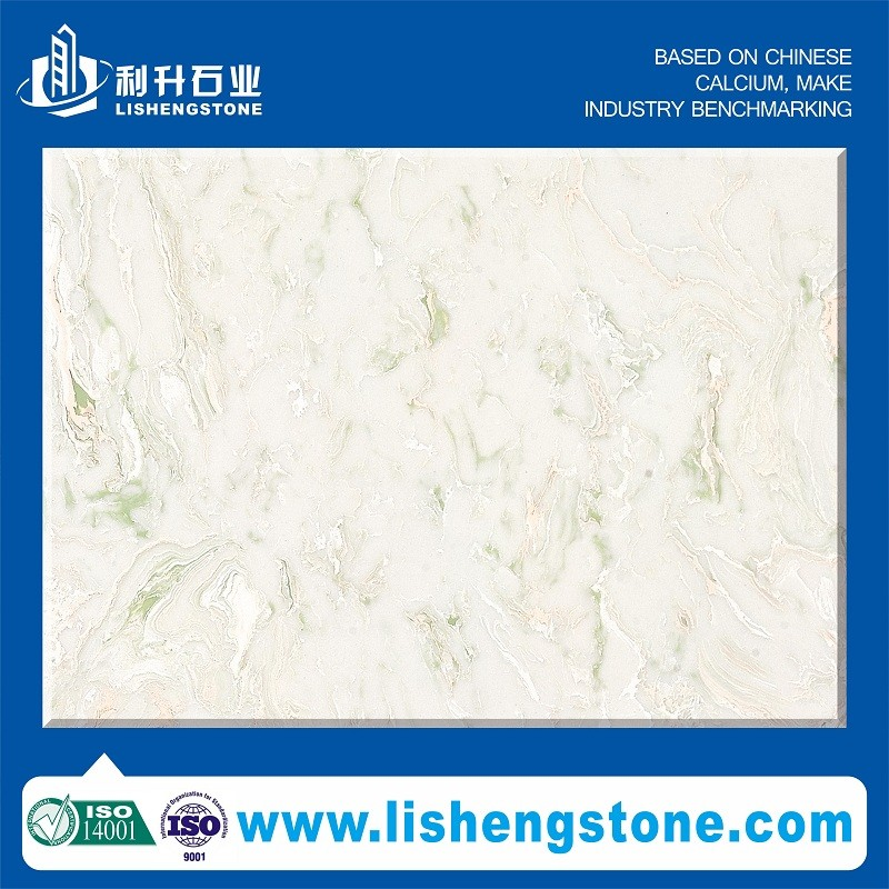 SGS authenticate manufacturer man-made gems decorative artical quartz jade wall stone polished