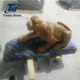 Outdoor life size stone tiger garden animal statues sculpture