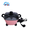 2018 high quality non-stick pan with glass cover non-stick frying aluminum pan mini electric skillet