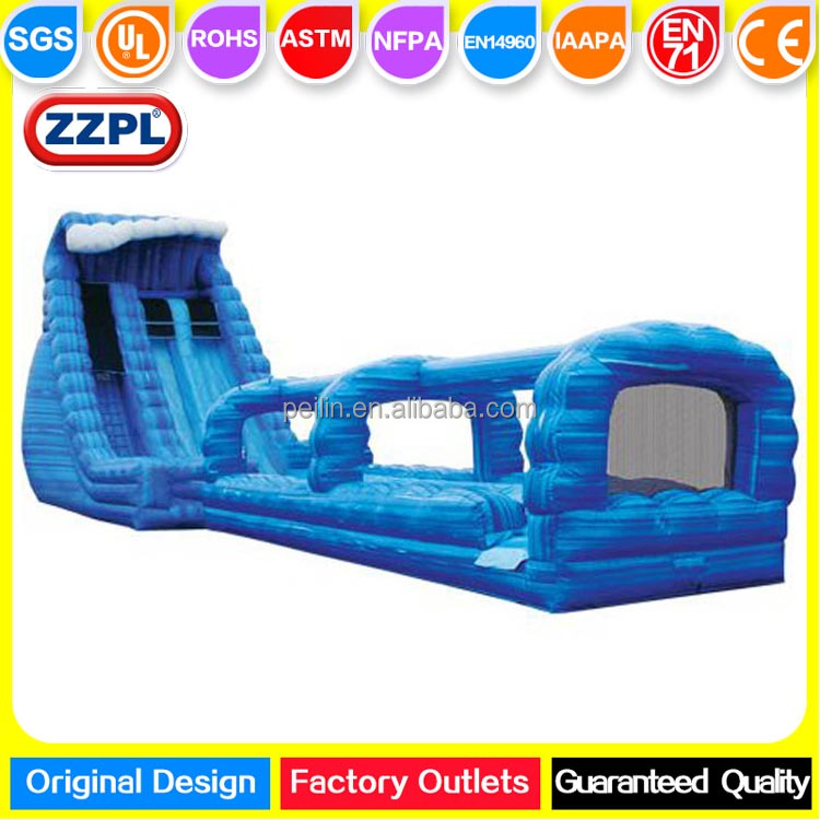ZZPL Extremely Fun Inflatable Tidal Wave Water Slide for Adults, Giant Amusement Park Water Slide for rental