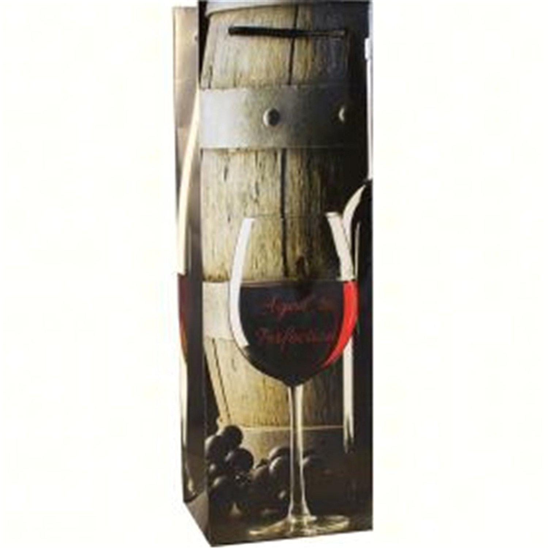 Bella Vita BVP1AGED Printed Paper Single Wine Bag - Aged