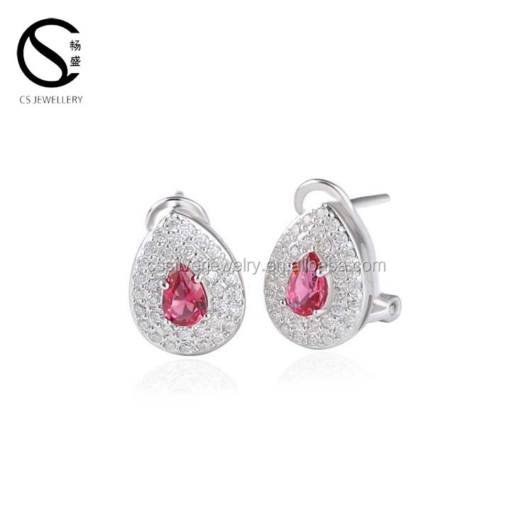 Fashion Earring Water Droplets Color Red Blue Green Earrings