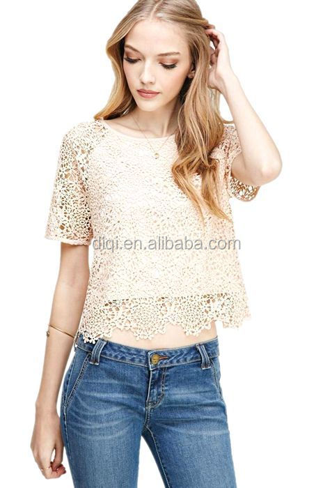 Guangzhou Clothes New Model Blous Fashion Sexy Women See Through