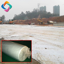 High tensile strength stable vertical or horizontal drainage nonwoven geo textile 100 gsm geotextile filter fabric