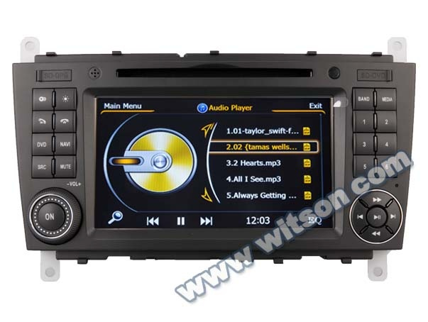 WITSON for MERCEDES-BENZ C class W203(2004-2007) car dvd player radio WITH A8 CHIPSET DUAL CORE 1080P V-20 DISC WIFI
