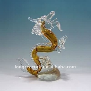 Wholesale Dragon Shaped Colored Glass Tabletop Floor Lamps Art Deco
