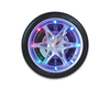 "GP1107 Round blue light decorative digital LED 14"" inch tire wall clock"
