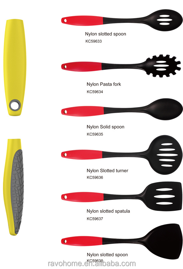 Fda approval kitchen utensil nylon kitchen utensils for Colorful kitchen tools