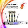 Skytone DC-ONE dual handheld uhf cheap wireless microphones, pro audio system