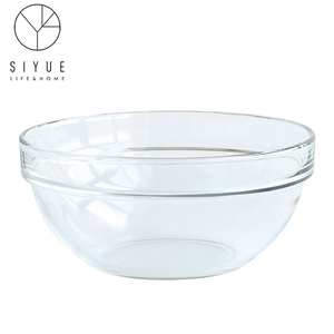 Toughened glass 8 inch can microwave vegetables salad bowl