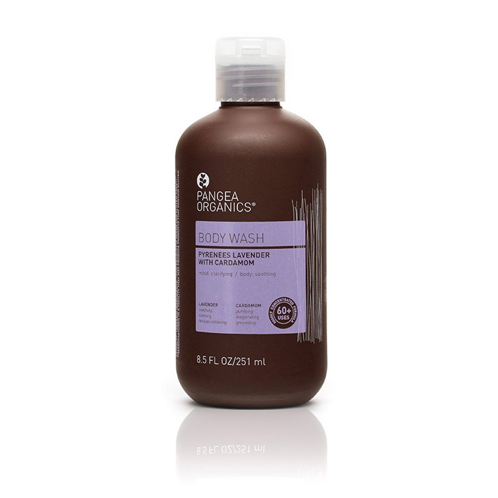 Pangea Organics Body Wash   Pyrenees Lavender with Cardamom   Best All-Natural Sulfate Free Shower Gel   For Men or Women   Vegan   Gluten Free   Non-GMO   8.5 Ounces