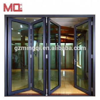 Aluminum accordion folding doors made in china Guangzhou